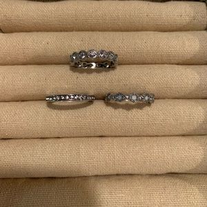 Chloe + Isabel Rings- set of 3